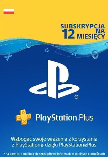 PlayStation Plus Card 365 Days (PL) PSN Key POLAND