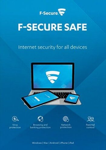F-Secure SAFE Security (Windows, Android, Mac) 1 Device 1 Year Key EUROPE
