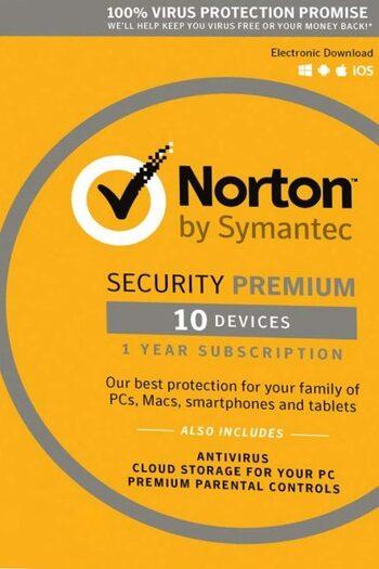 Norton Security Premium - 10 Device + 25 GB - 1 Year - Norton Key EUROPE