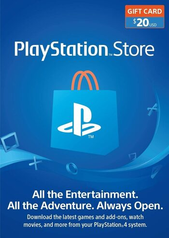 Carte PlayStation Network 20 USD (USA) Clé PSN ÉTATS-UNIS