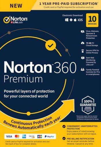 Norton 360 Premium - 10 Devices 2 Years - Norton Key UNITED STATES