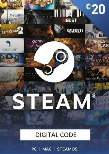Steam Wallet Gift Card 20 EUR Steam Key EUROPE