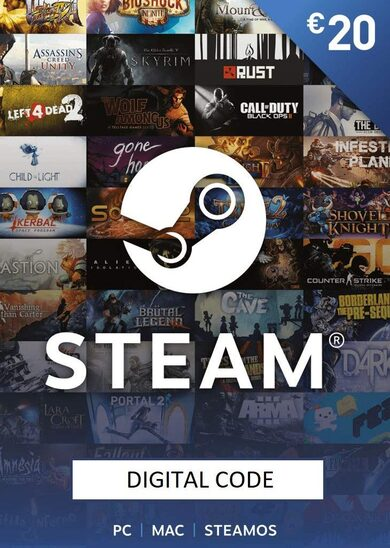 Portfel Steam Karta Podarunkowa 20 EUR Steam Key EUROPE