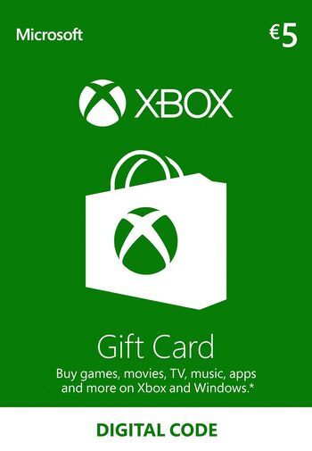 Xbox Live Gift Card 5 EUR Xbox Live Klucz EUROPE