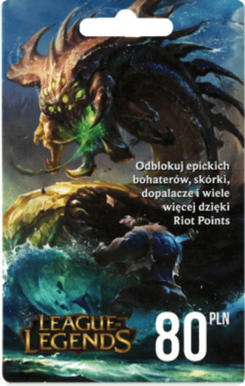 League of Legends Gift Card 80 PLN - 2840 Riot Points / 1750  Valorant Points - EUROPE Server Only