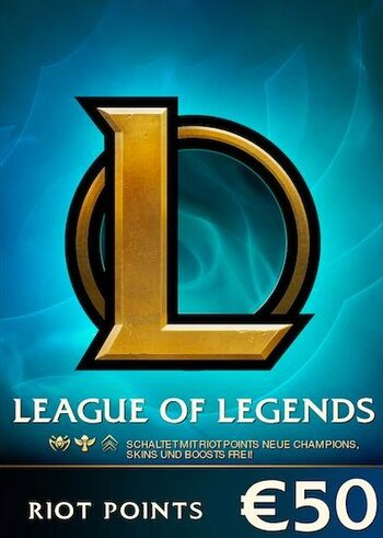 League of Legends Gift Card 50€ - 7200 Riot Points / 5025 Valorant Points - EU WEST Server Only