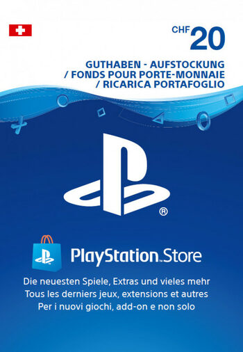 Playstation Network Card 20 CHF (CH) PSN Key SWITZERLAND