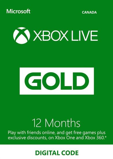 Xbox Live Gold 12 months Xbox Live Key CANADA