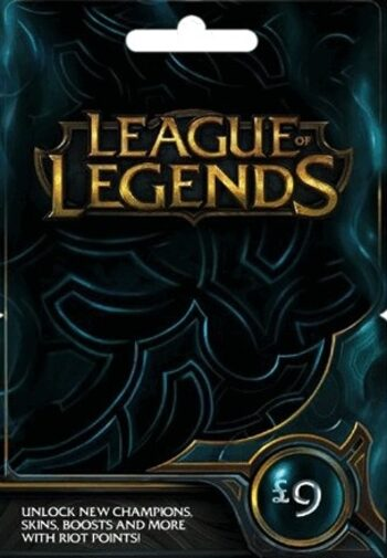 League of Legends Gift Card £9 - 1380 Riot Points / 950 Valorant Points - EU WEST Server Only