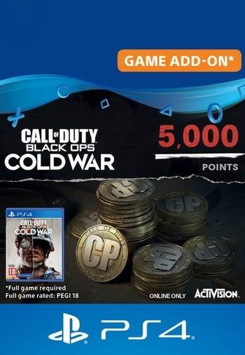 4,000 Call of Duty: Black Ops Cold War Points + 1,000 Bonus PS4/PS5 (PSN) Key UNITED STATES