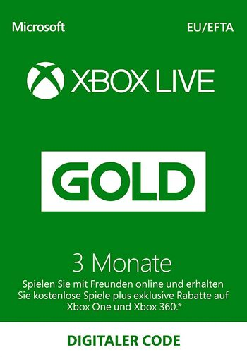 Xbox Live Gold 3 months Xbox Live Key GERMANY