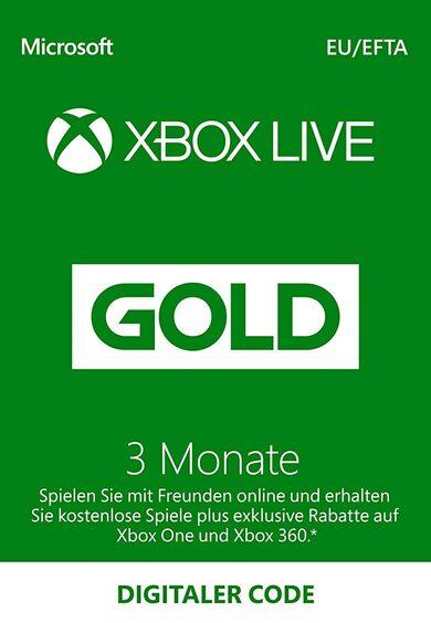 Xbox Live Gold 3 months Xbox Live Key GERMANY
