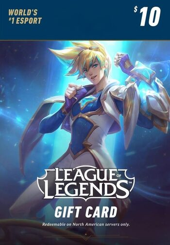 League of Legends Gift Card 10$ - 1380 Riot Points / 950 Valorant Points - NA Server Only