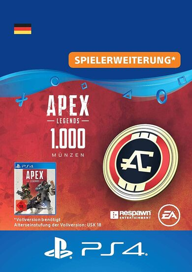 Apex Legends 1000 Apex Coins (PS4) PSN Key GERMANY