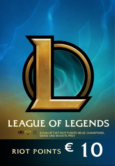 League of Legends Gift Card 10€ - 1380 Riot Points / 950 Valorant Points - EUROPE Server Only