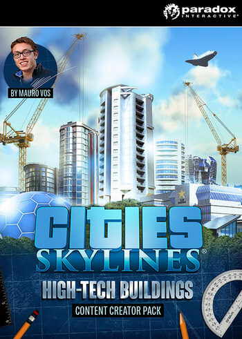 Cities: Skylines - Content Creator Pack: High-Tech Buildings (DLC) Steam Key GLOBAL
