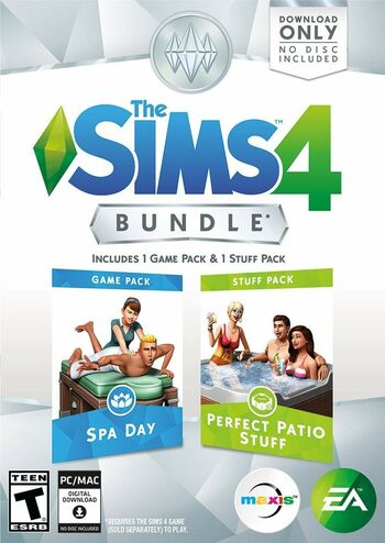 The Sims 4 Bundle Spa Day & Perfect Patio Stuff Expansion Pack (DLC) Origin Key GLOBAL