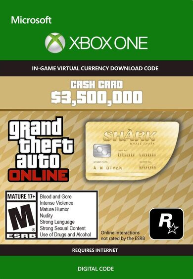 Grand Theft Auto Online: Whale Shark Cash Card (Xbox One) Xbox Live Key GLOBAL
