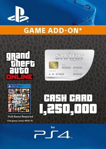 Grand Theft Auto Online: Great White Shark Cash Card (PS4) PSN Key EUROPE