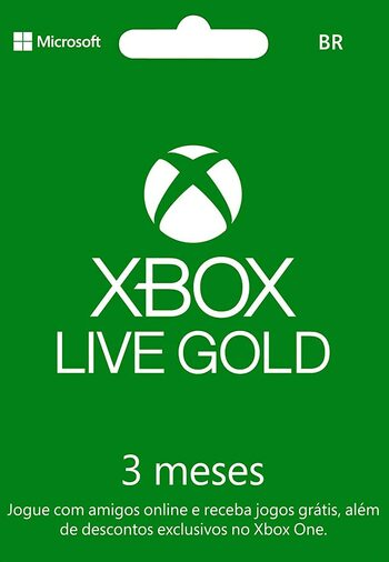 Xbox Live Gold 3 months Xbox Live Key BRAZIL