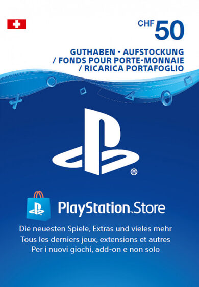 PlayStation Network Card 50 CHF (CH) PSN Key SWITZERLAND