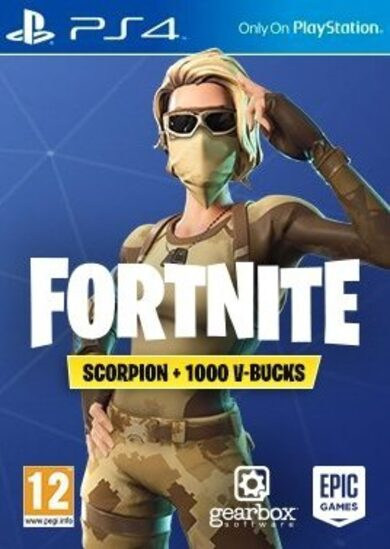 Fortnite: Scorpion Skin + 1000 V-Bucks (PS4) PSN Key EUROPE