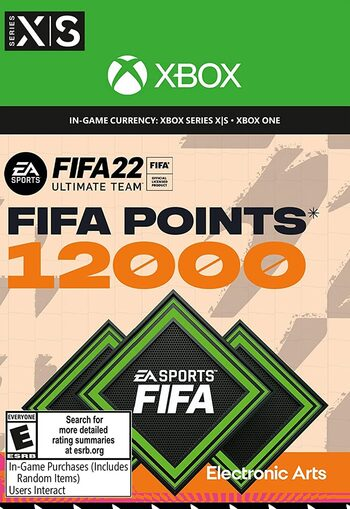 FIFA 22 - 12000 FUT Points Xbox Live Key GLOBAL