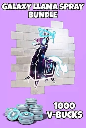 Fortnite - Galaxy LLama Spray + 1000 V-Bucks Epic Games Key GLOBAL