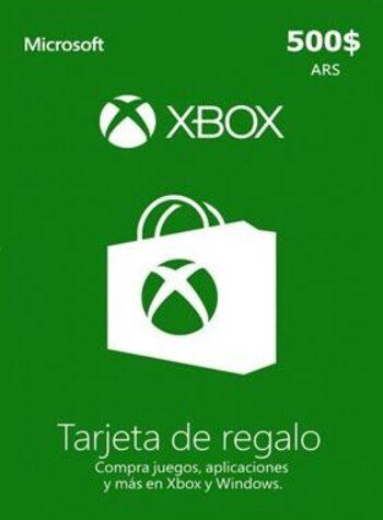 Xbox Live Gift Card 500 ARS Xbox Live Key ARGENTINA