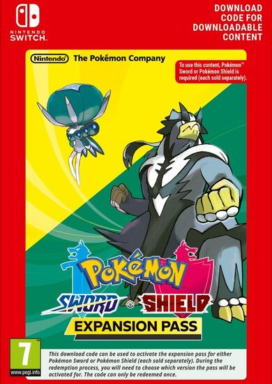 Pokemon Sword / Shield Expansion Pass (DLC) (Nintendo Switch) eShop Key EUROPE