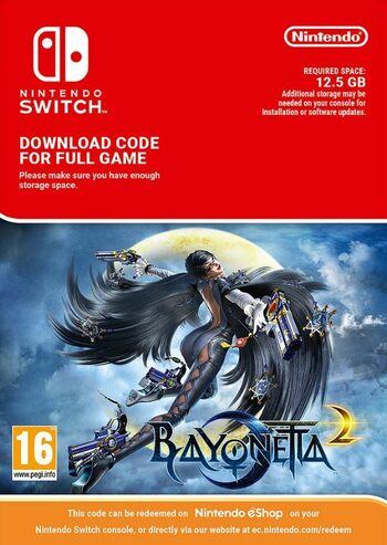 Bayonetta 2 (Nintendo Switch) eShop Key EUROPE