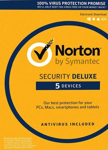 Norton Security Deluxe - 5 Devices - 3 Months - Norton Key GLOBAL
