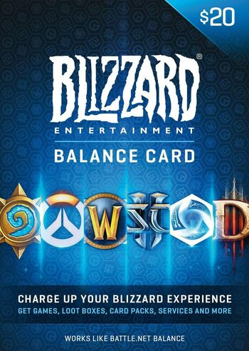 Battle.net Gift Card 20 USD Battle.net Key NORTH AMERICA