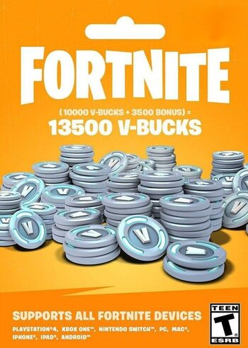 Fortnite – 13500 V-Bucks Gift Card Key GLOBAL