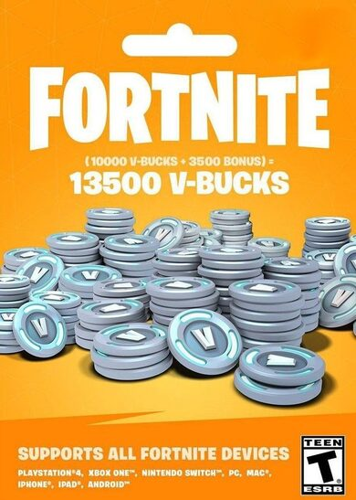 Fortnite - 13500 V-Bucks Gift Card Key GLOBAL