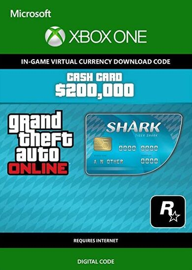 GTA Online Cash Gamecard Tiger Shark Xbox One