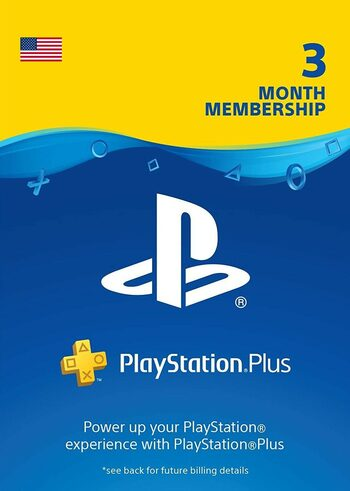 PlayStation Plus Card 90 Days (USA) PSN Key UNITED STATES