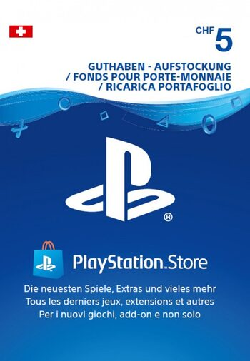 Playstation Network Card 5 CHF (CH) PSN Key SWITZERLAND