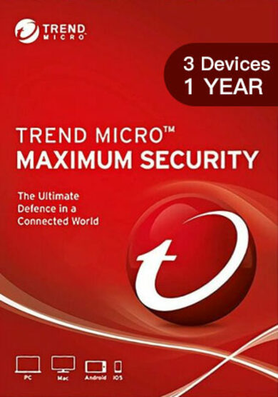 Trend Micro Maximum Security 3 Device 1 Year Key GLOBAL