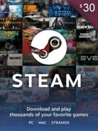 Steam Wallet Gift Card 30 USD Steam Key GLOBAL
