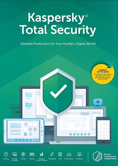 Kaspersky Total Security 2019 - 5 Device - 1 Year Kaspersky Key EUROPE