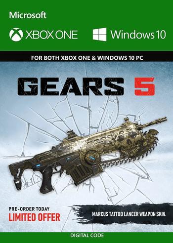 Gears 5  - Marcus Tattoo Lancer Weapon Skin (DLC) (PC/Xbox One) Xbox Live Key GLOBAL