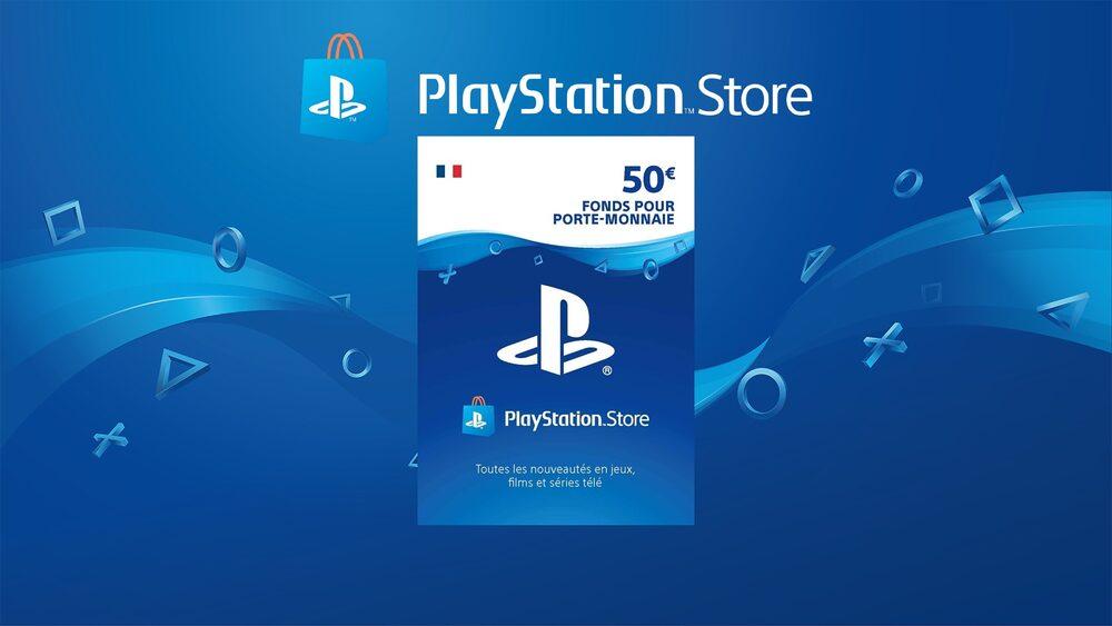 Carte PlayStation Network 50 EUR (FR) Carte PSN FRANCE