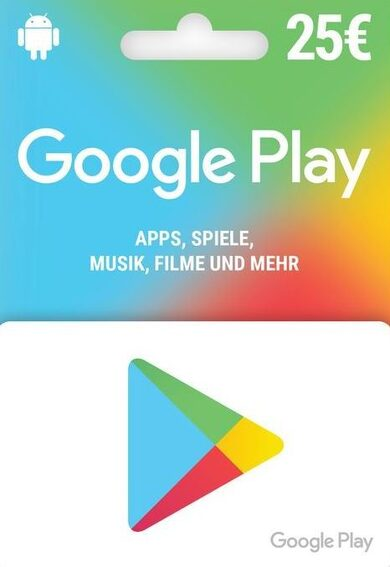 Google Play Gift Card 25 EUR (DE) Key GERMANY