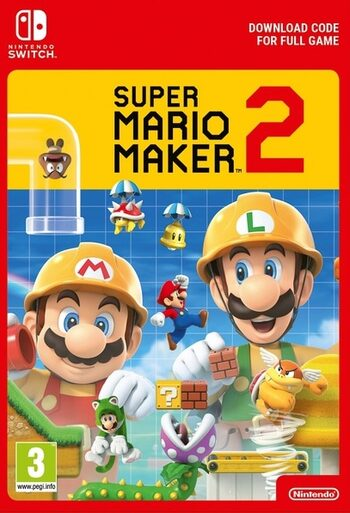 Super Mario Maker 2 (Nintendo Switch) eShop Clave EUROPA