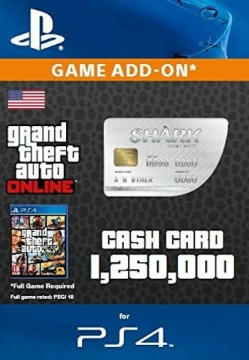 Grand Theft Auto Online: Great White Shark Cash Card (PS4) PSN Key UNITED STATES
