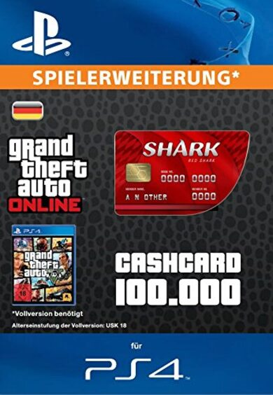 Grand Theft Auto Online: Red Shark Cash Card (PS4) PSN Key GERMANY
