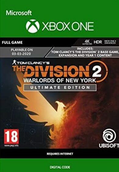 The Division 2 - Warlords of New York - Ultimate Edition (Xbox One) Xbox Live Key GLOBAL