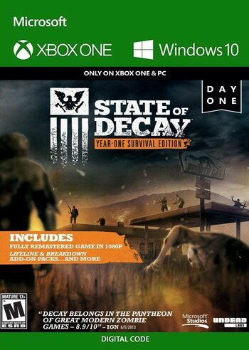 State of Decay: Year-One Survival Edition PC/XBOX LIVE Key UNITED STATES
