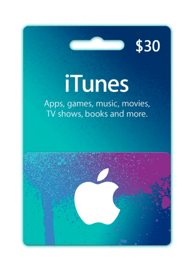 Apple iTunes Gift Card 30 USD iTunes (USA) ESTADOS UNIDOS ¡MÁS BARATO!
